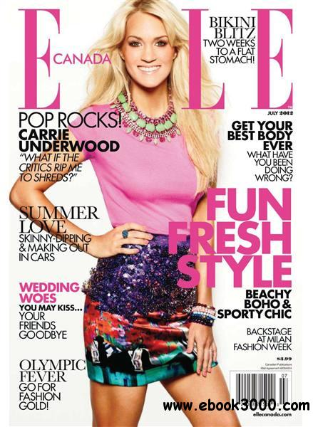 Elle Canada - July 2012 free download