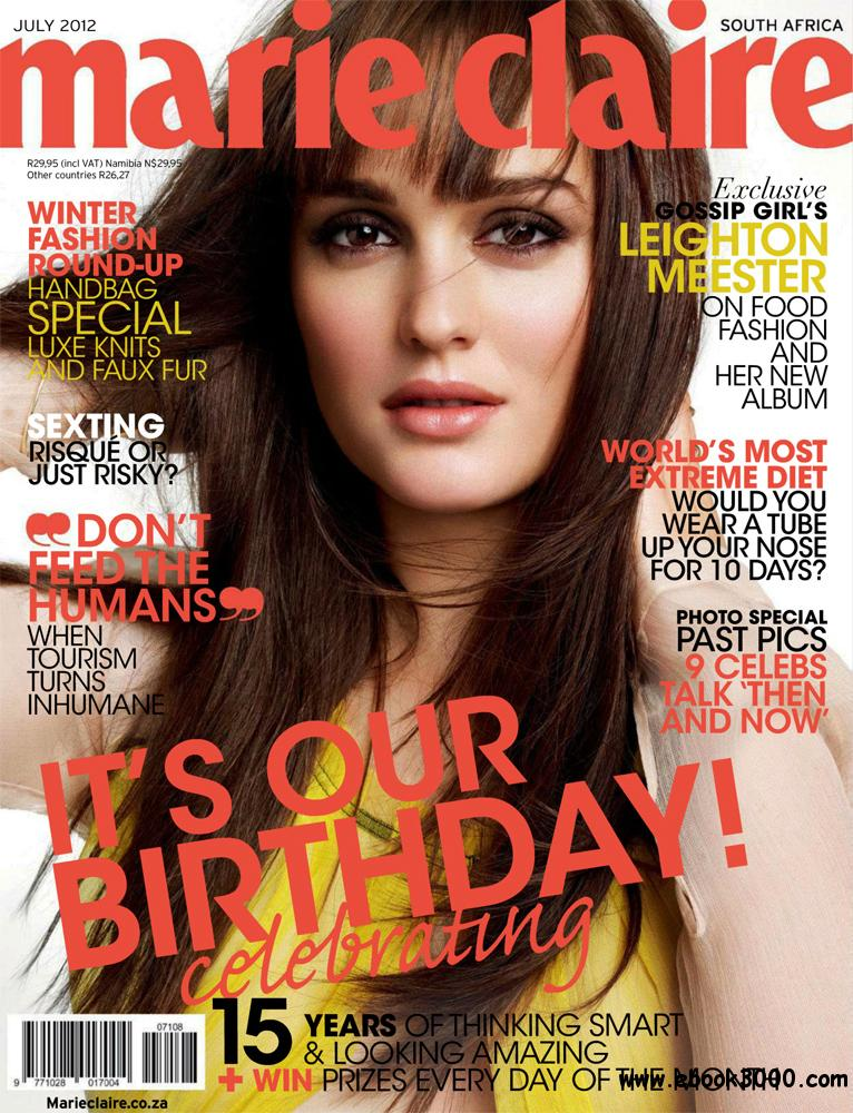 Marie Claire July 2012 (South Africa) free download