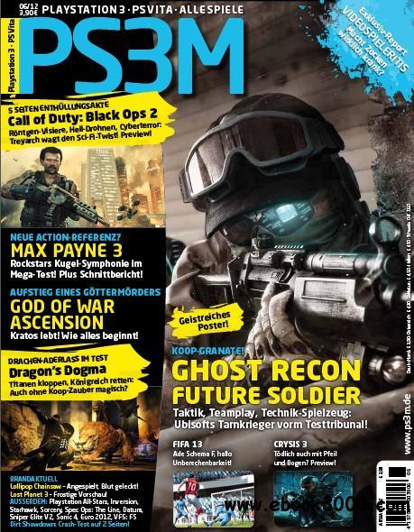 PS3M Das Playstation Magazin Juni No 06 2012 free download