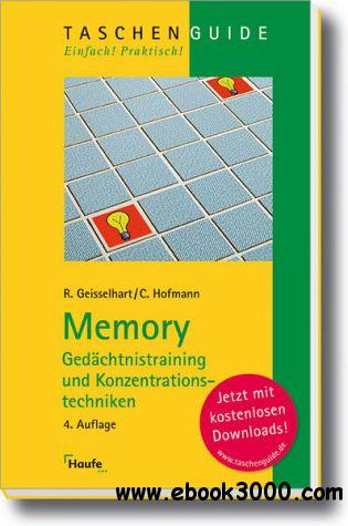 Memory, Gedachtnistraining und Konzentrationstechniken 4. Edition free download