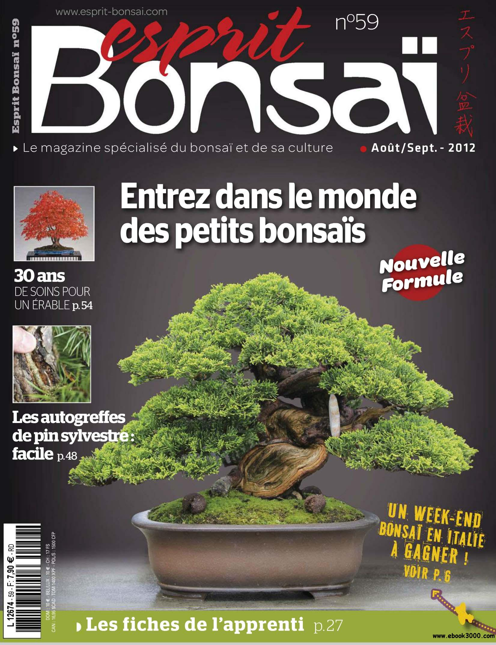 Esprit Bonsai N.59 Aout / Septembre 2012 free download