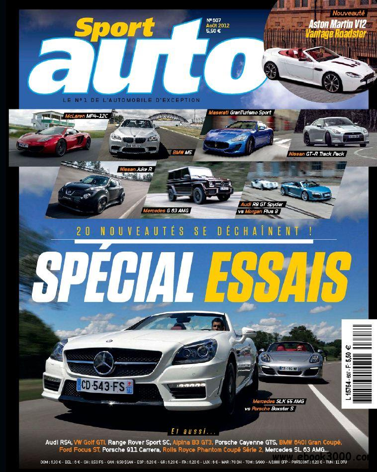 Sport Auto 607 - Aout 2012 free download