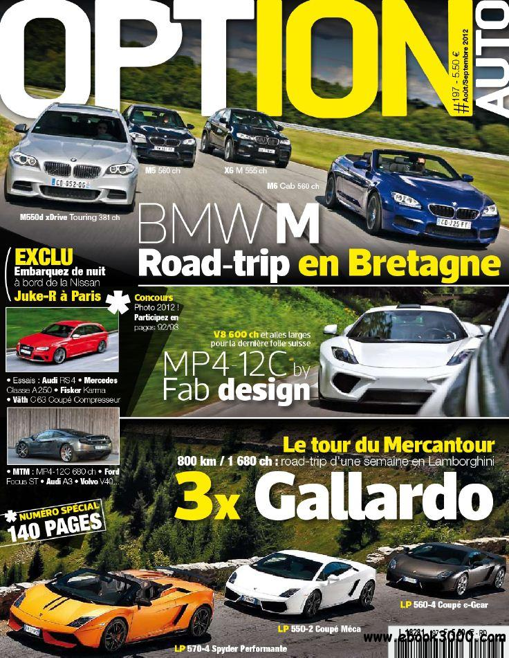 Option Auto 197 - Aout-Septembre 2012 free download