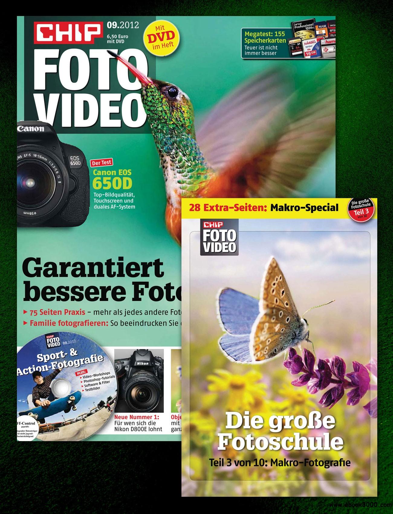 Chip Foto und Video Magazin September No 09 2012 free download