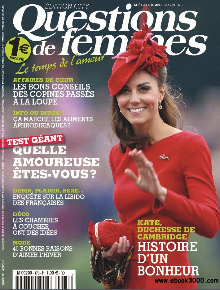 Questions de Femmes 178 - Aout-Septembre 2012 free download
