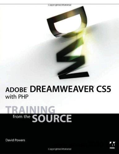 Adobe Dreamweaver CS5 with PHP: Training from the Source free download