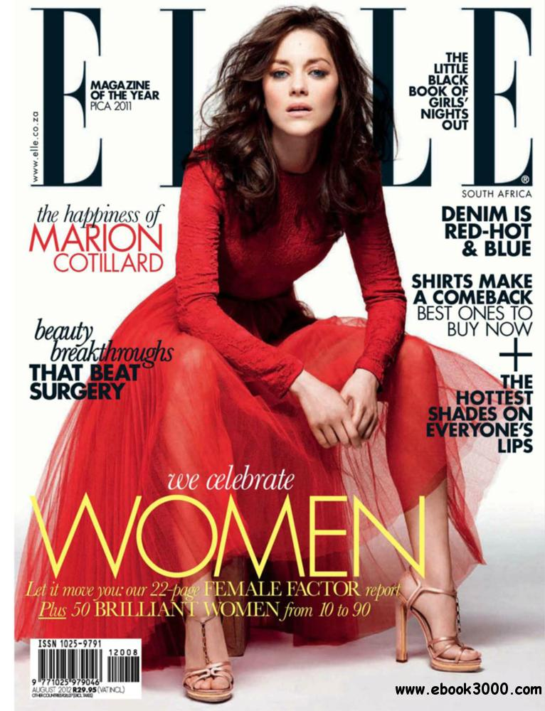 Elle August 2012 (South Africa) free download