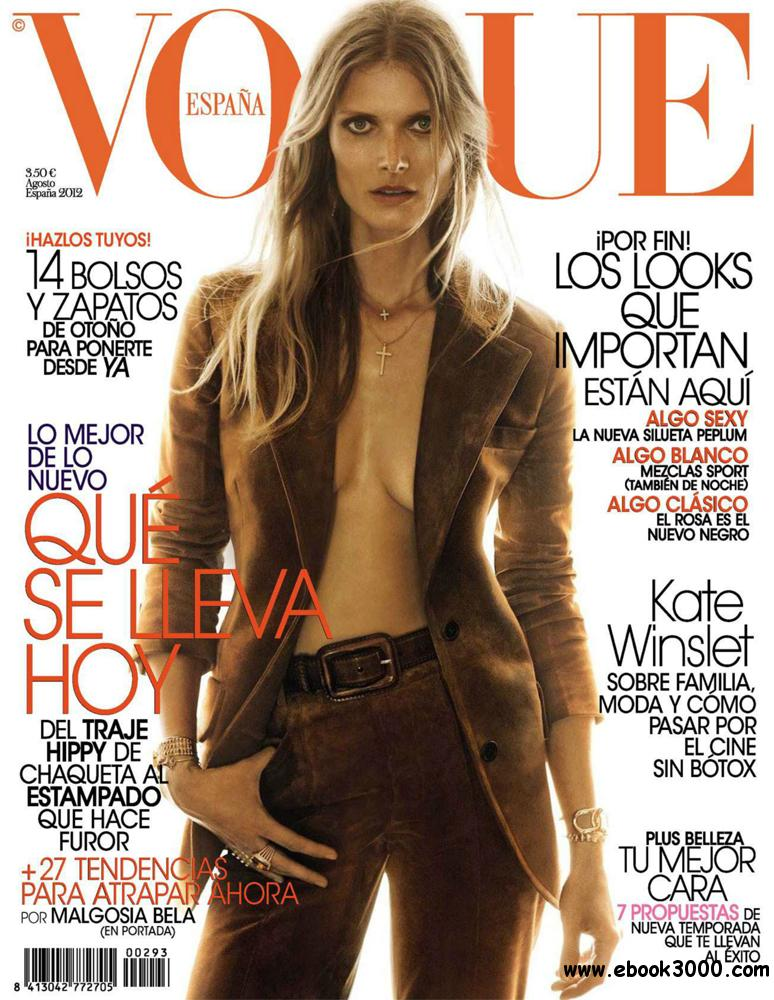 Vogue Agosto 2012 (Spain) free download