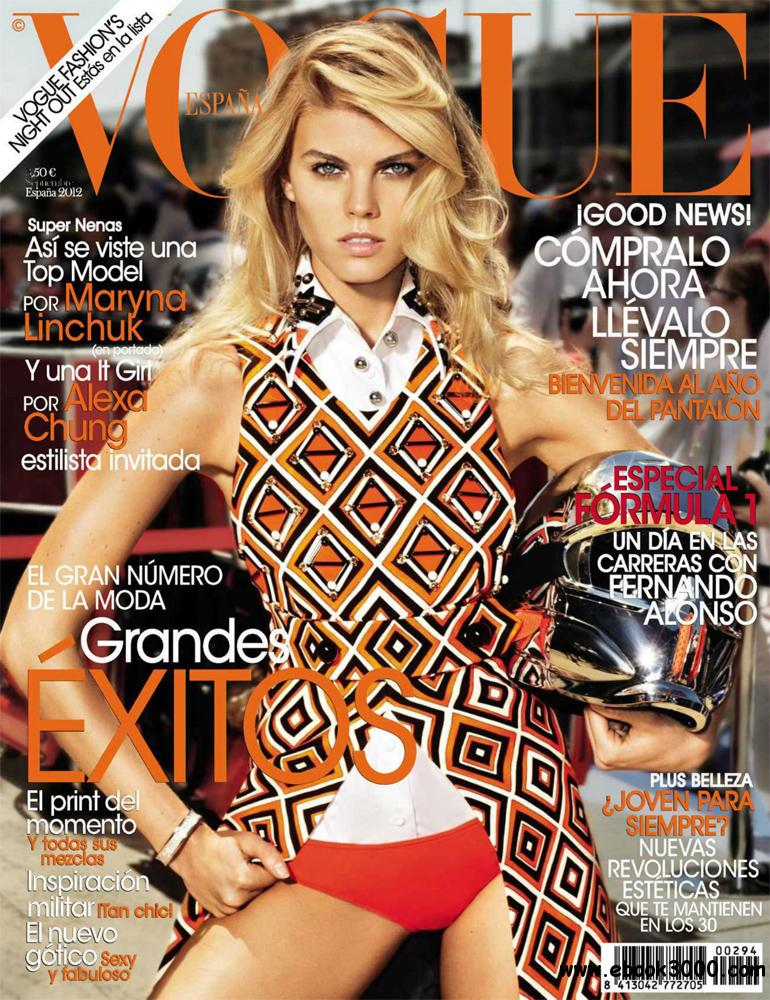 Vogue Septiembre 2012 (Spain) free download