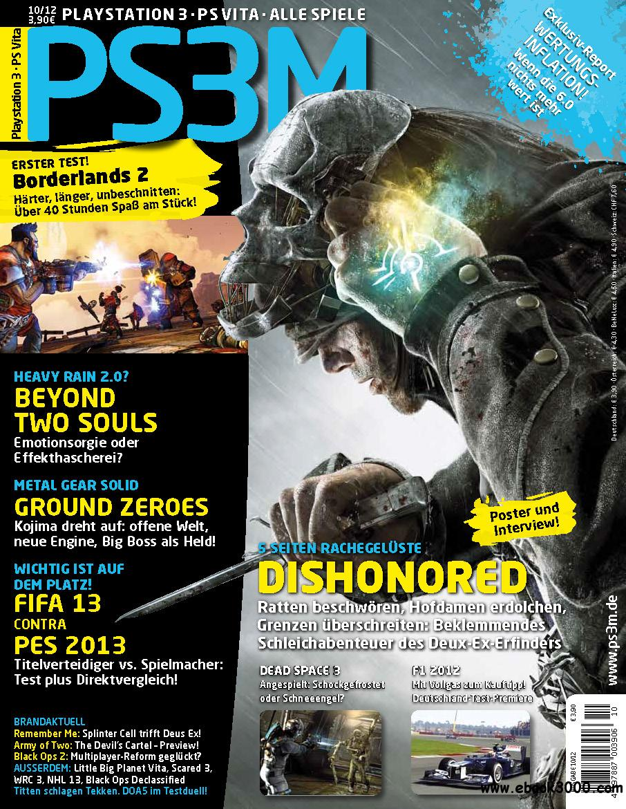 PS3M - Das Playstation Magazin Oktober 10/2012 free download