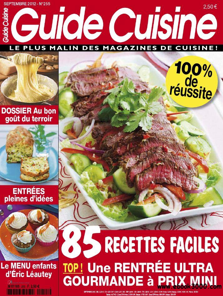 Tele Loisirs Guide Cuisine 255 - Septembre 2012 free download