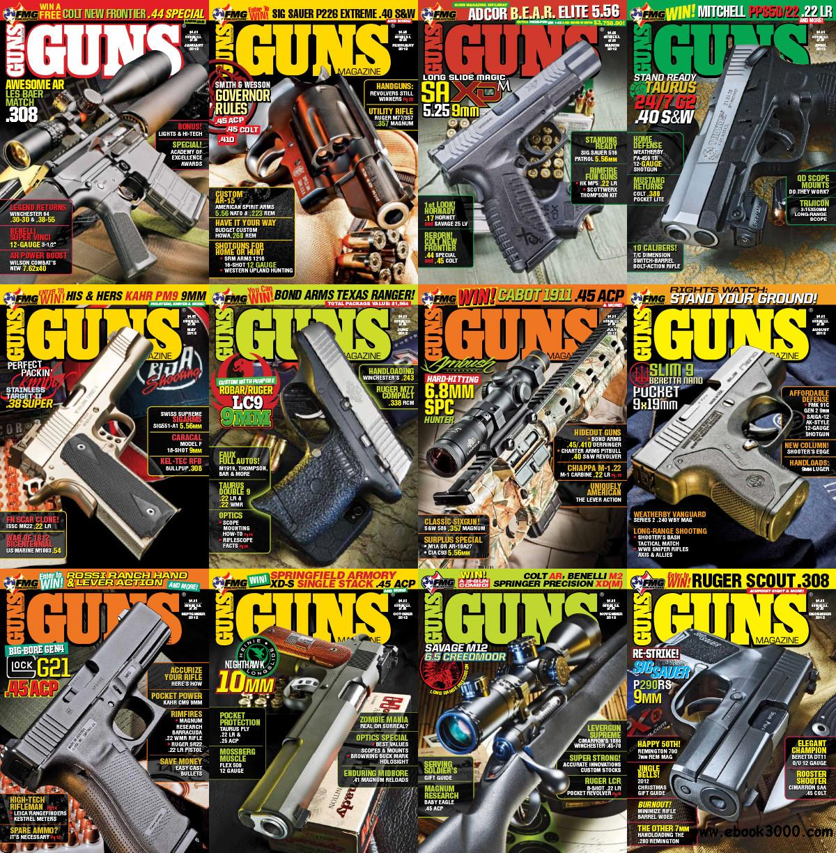 Guns Magazine 2012 Full Year Collection free download