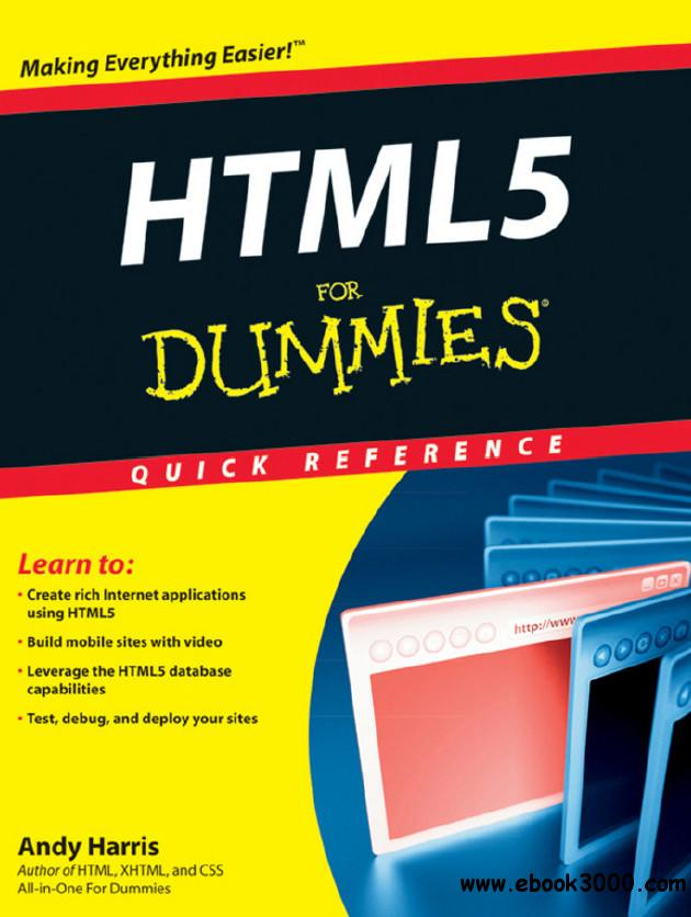 HTML5 For Dummies Quick Reference free download