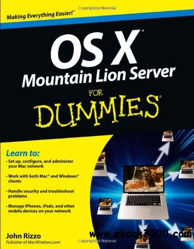 OS X Mountain Lion Server For Dummies free download