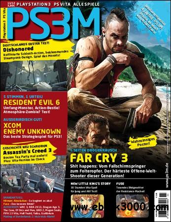 PS3M Das Playstation Magazin - November 2012 free download