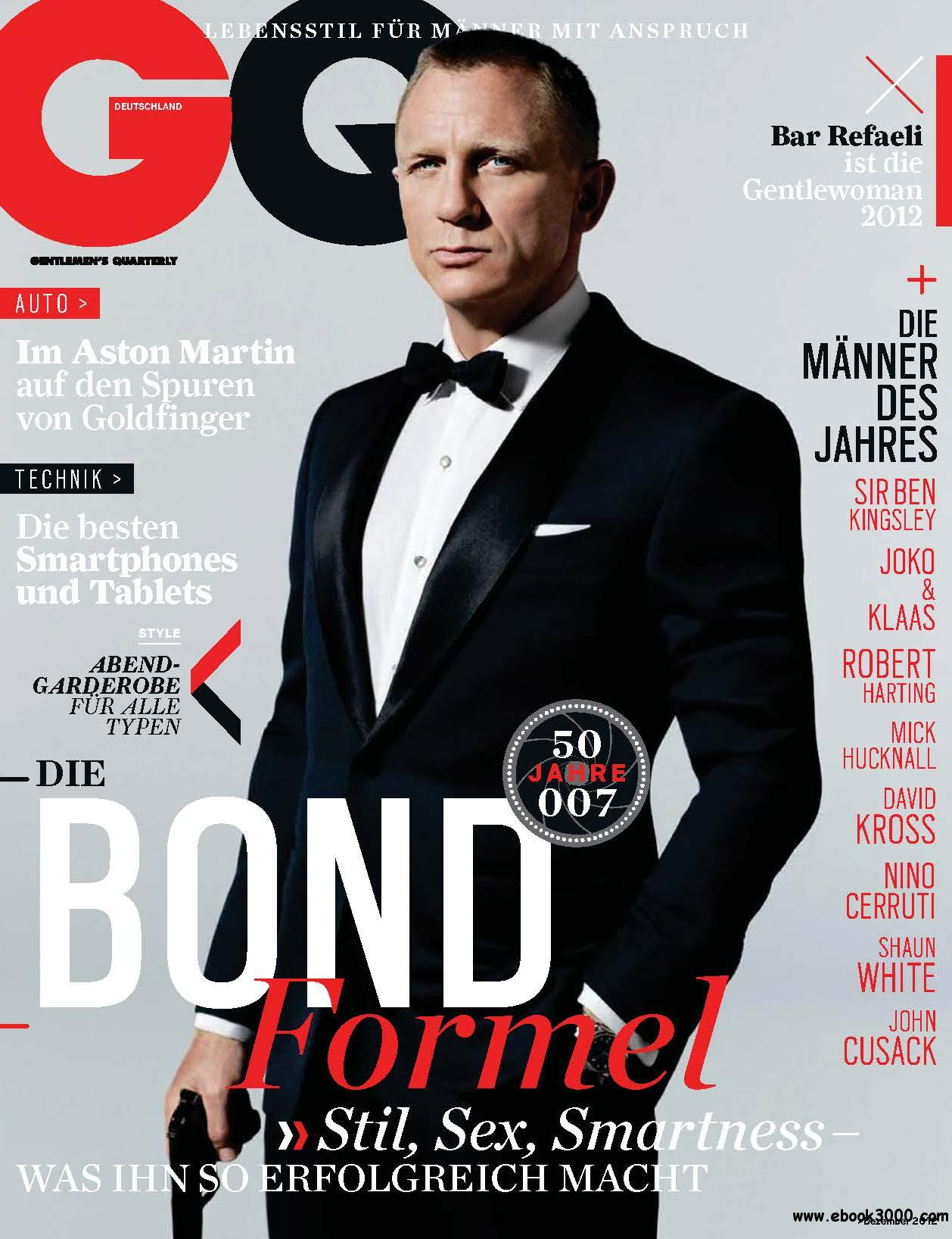 GQ Germany Dezember 12/2012 free download