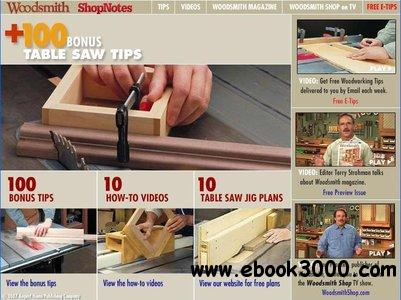 +100 Bonus Table Saw Tips CD-ROM from Shopnotes & Woodsmith free download