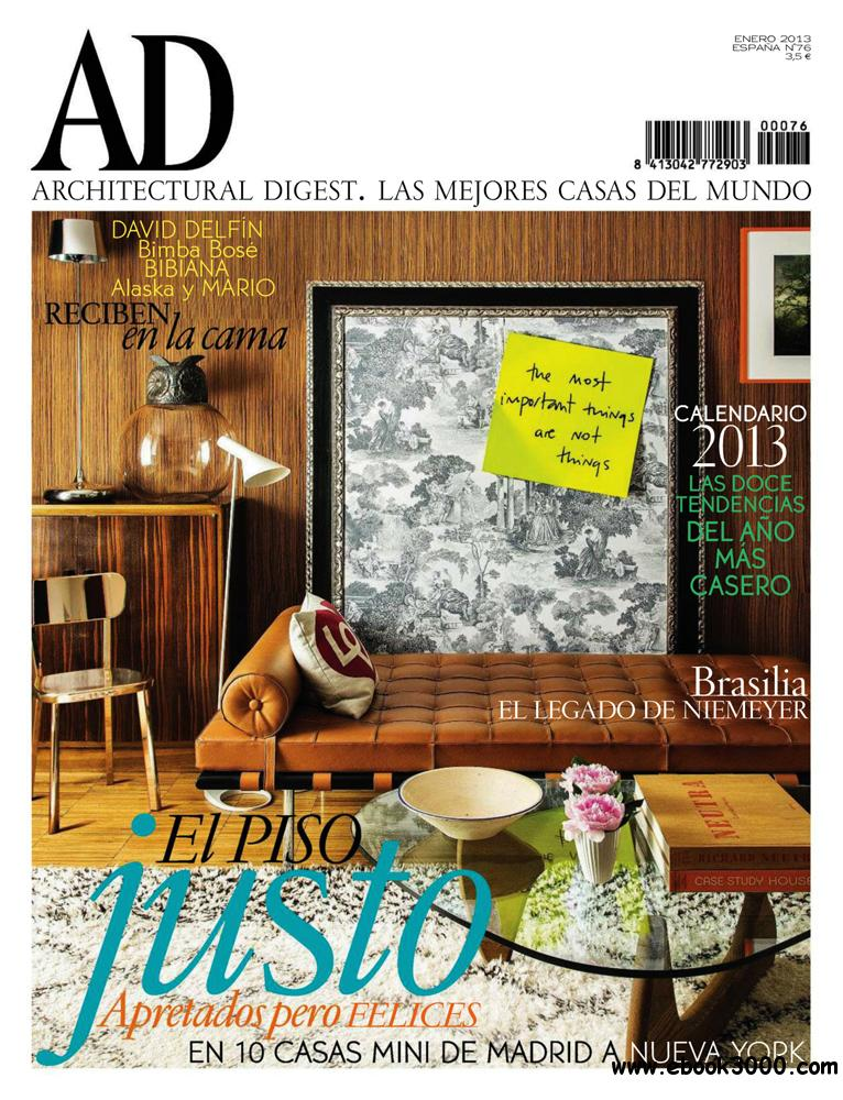 Architectural digest enero 2013 spin free ebooks download for Free architectural magazines