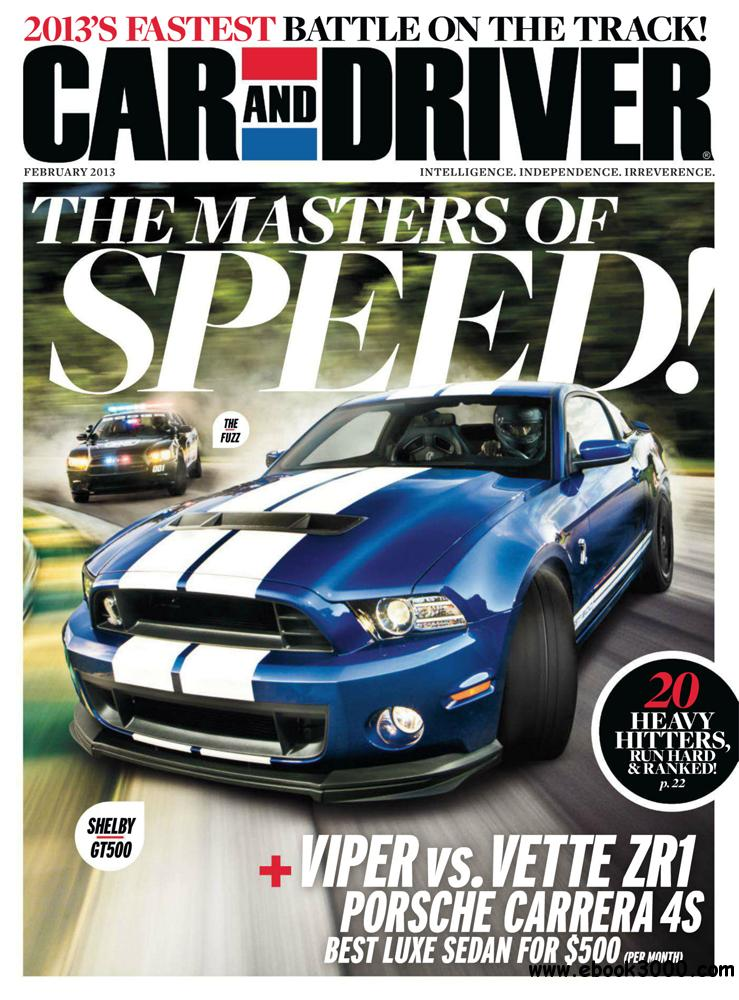Car and Driver February 2013 (USA) free download