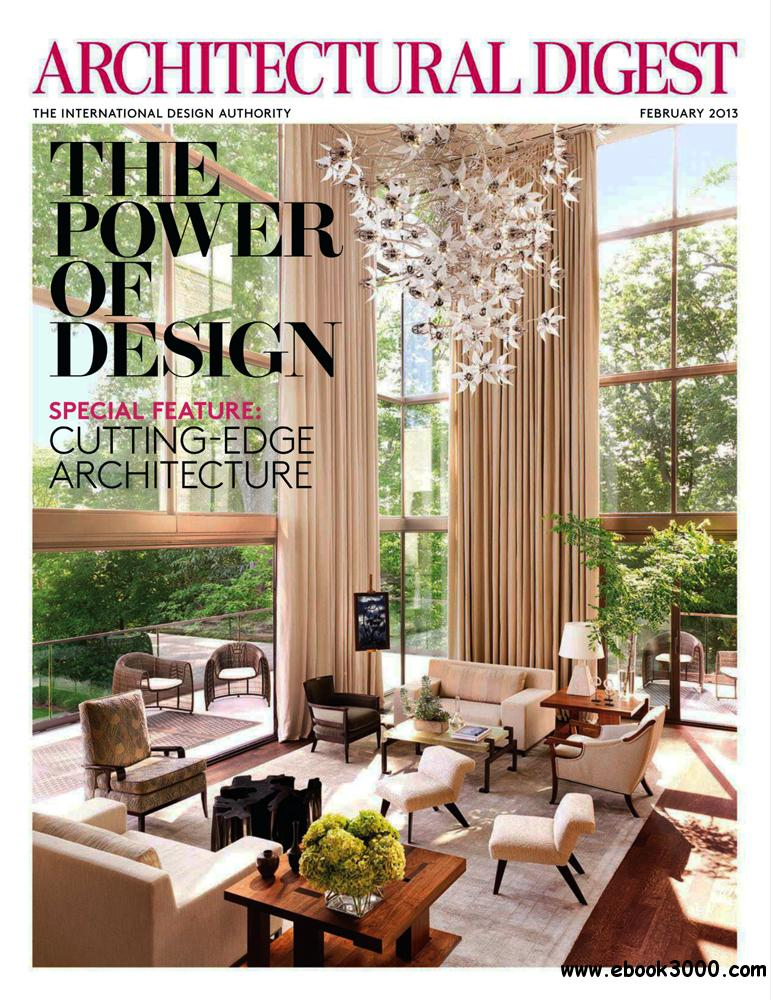 Architectural Digest February 2013 Usa Free Ebooks