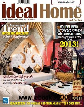The Ideal Home and Garden Magazine January 2013 free download