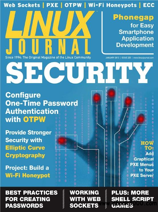 Linux Journal - January 2013 free download