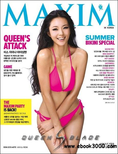 Maxim Korea - July 2012 free download