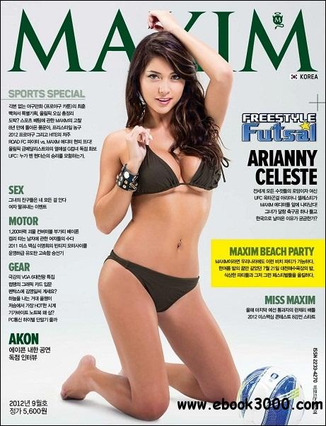 Maxim Korea - September 2012 free download