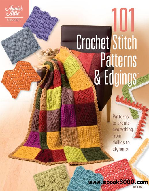 Crochet Stitches Book Free Download : 101 Crochet Stitch Patterns & Edgings - Free eBooks Download