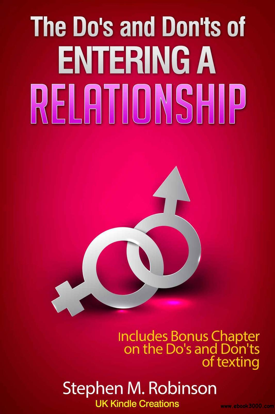 The Do's and Don'ts of Entering a Relationship free download