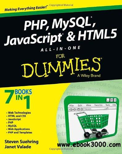Php mysql javascript html5 all in one for dummies for For dummies template book cover