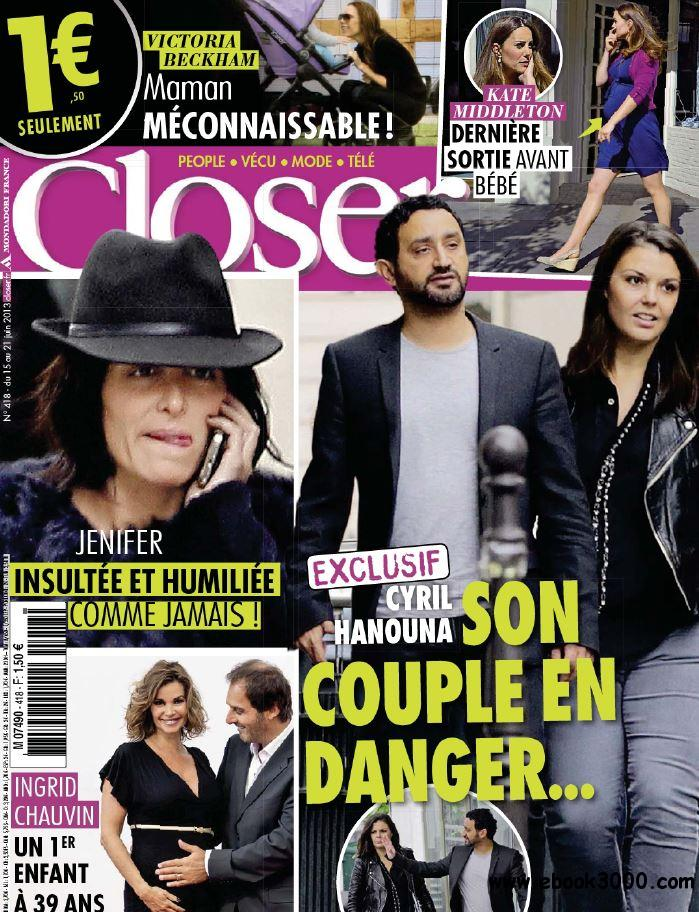 Closer N 418 - 15 au 21 Juin 2013 free download