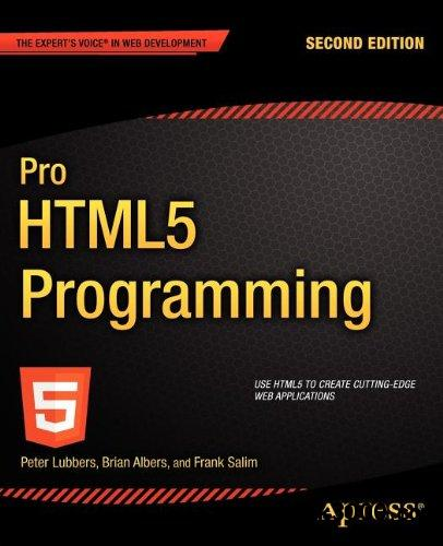 Pro HTML5 Programming, 2nd Edition free download