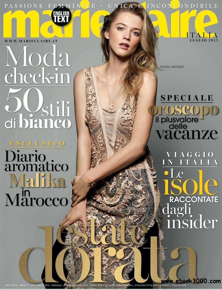 Marie Claire Luglio 2013 (Italy) free download