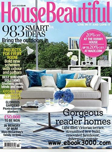 House Beautiful July 2013 (UK) free download
