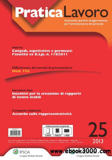 Pratica Lavoro N.25 - 2013 free download