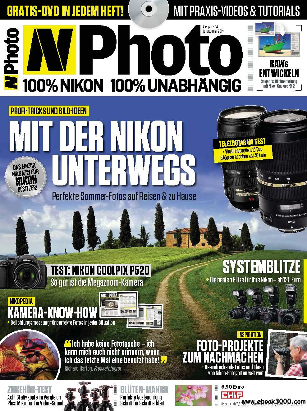 CHIP N-Photo - Magazin fur Nikon-Besitzer Juli/August 04/2013 download dree