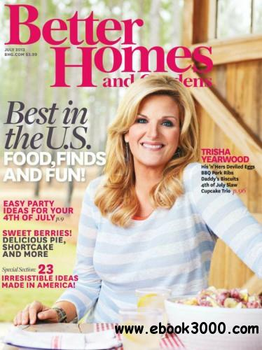 Better Homes and Gardens USA - July 2013 free download