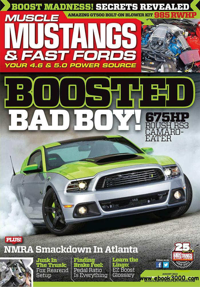 Muscle Mustangs & Fast Fords August 2013 (USA) free download