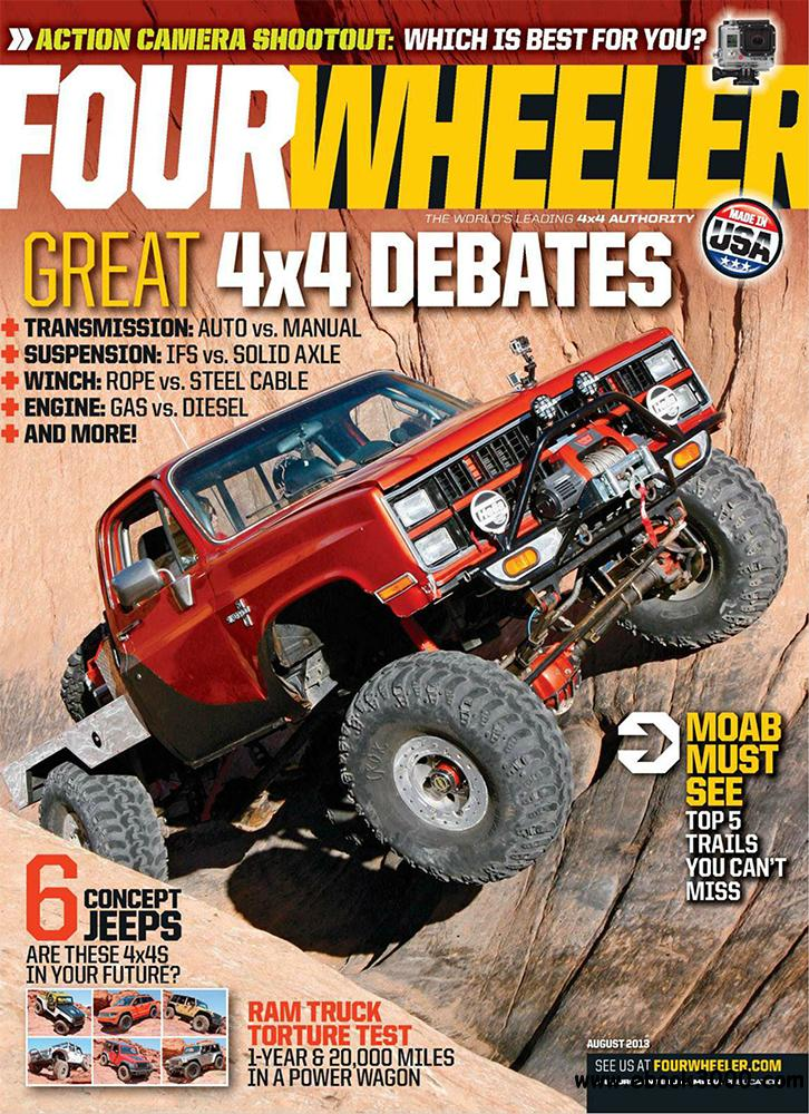 Four Wheeler August 2013 (USA) free download