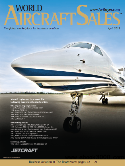 World Aircraft Sales Magazine April 2013 free download