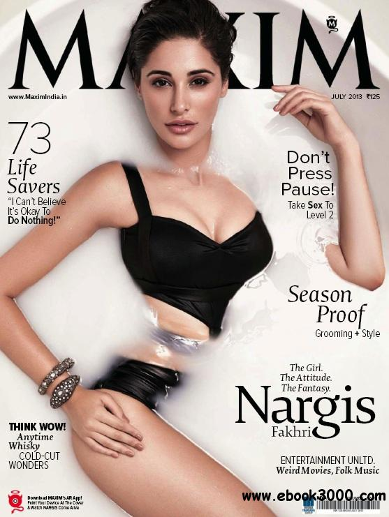 Maxim India - July 2013 free download