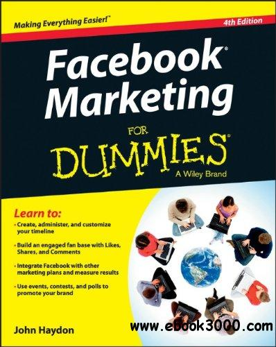 Facebook Marketing For Dummies, 4th edition free download