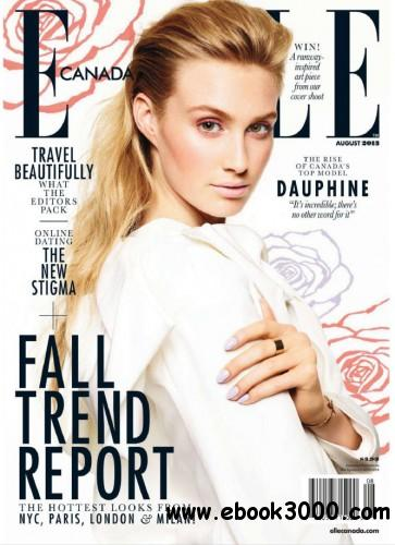 Elle Canada - August 2013 free download