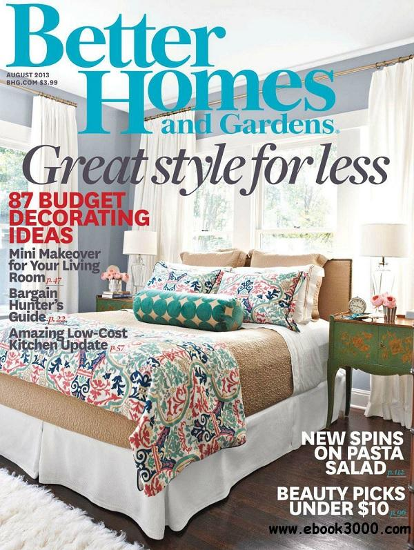 Better Homes And Gardens August 2013 Usa Free Ebooks: better homes and gardens download