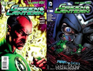 Green Lantern #1-9 (2011-2012) free download