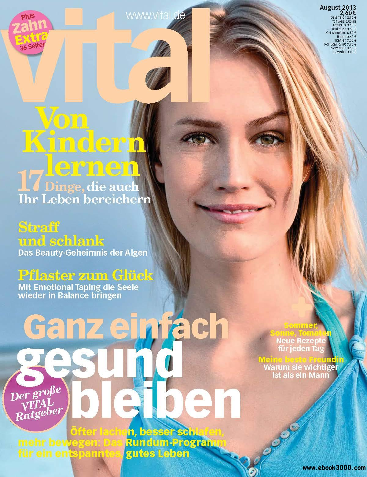 Vital (Wellness-Magazin) August 08/2013 free download