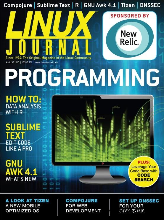 Linux Journal - August 2013 free download
