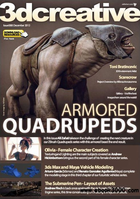 3Dcreative Issue 88 - December 2012 free download