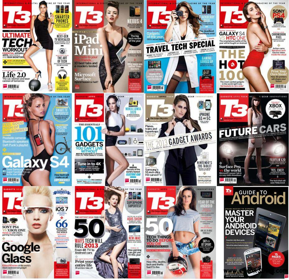 T3 UK - Full Year Collection 2013 free download